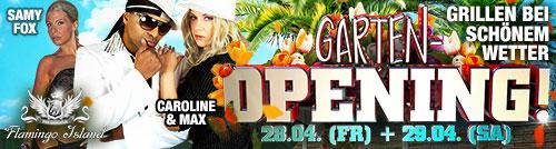 Flamingo Island 500*134 Garten Opening